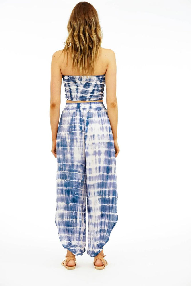 Load image into Gallery viewer, Shoreline Pant - Sabia Indigo White