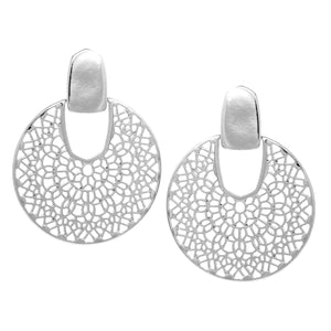 Load image into Gallery viewer, Filigree Cutout Disc Drop Earring - Jaffi's