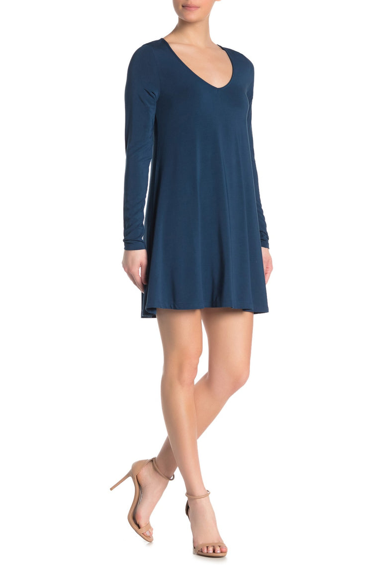 The Suzi Long-Sleeve Shift Dress