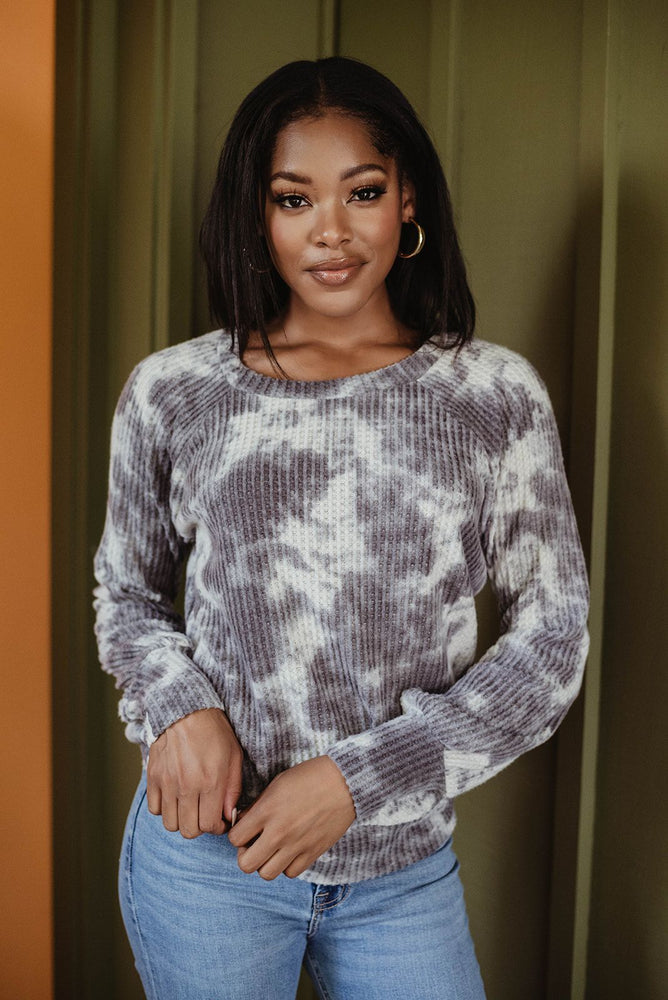 Load image into Gallery viewer, Raglan Sleeve Thermal Sweater