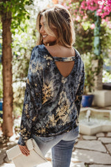 Jersey Open Back Dolman Top