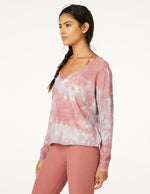 Open Neck Pullover - Earthen Rose/Chai Cloud Dye - Side View