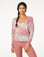Open Neck Pullover - Earthen Rose/Chai Cloud Dye - Front View