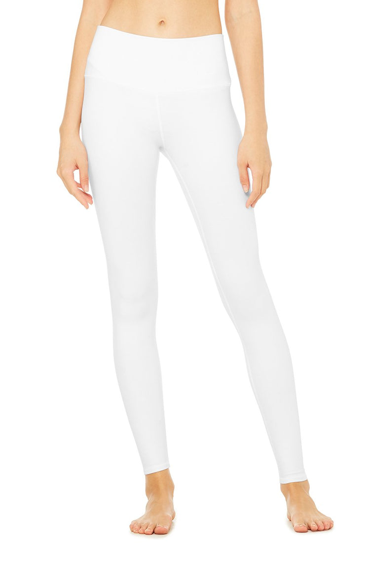 The High-Waist Airbrush Legging - White