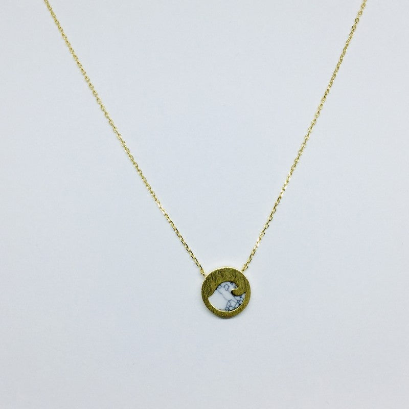 Load image into Gallery viewer, Wave Stone Necklace