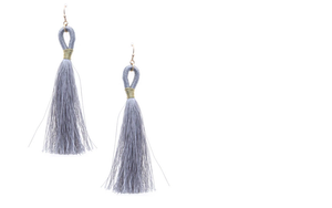 Load image into Gallery viewer, Thread Wrapped Loop Tassel Drop Earring