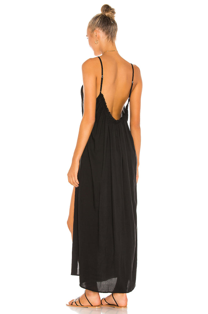 Load image into Gallery viewer, Yasmine Maxi Sundress - Black