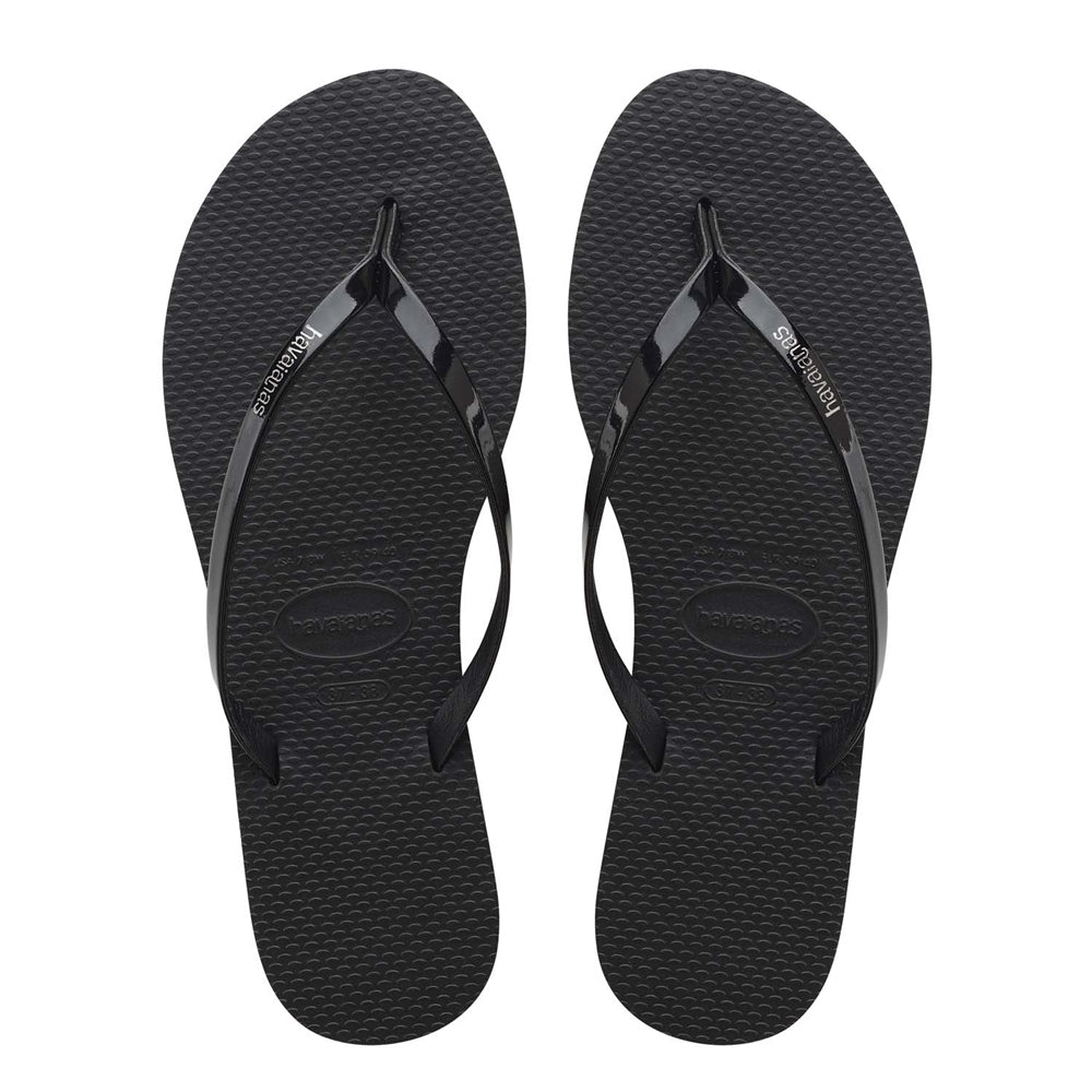 Load image into Gallery viewer, You Metallic Flip Flop - Black