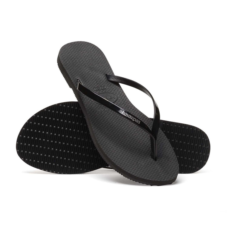 You Metallic Flip Flop - Black