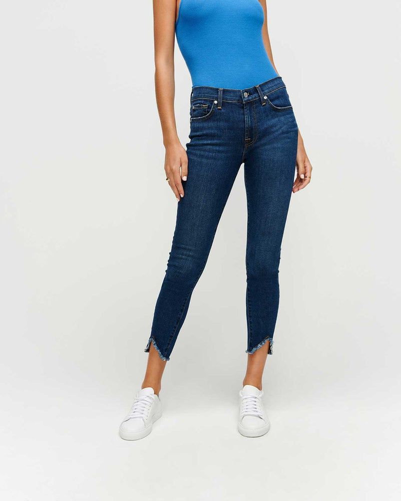Load image into Gallery viewer, Skinny Jeans with Wave Hem - Fletcher Drive