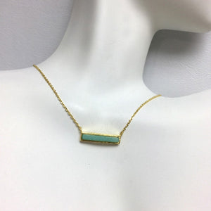 Load image into Gallery viewer, Bar Stone Necklace - Jaffi's