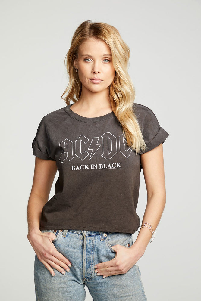 Load image into Gallery viewer, AC/DC Black in Black Tee