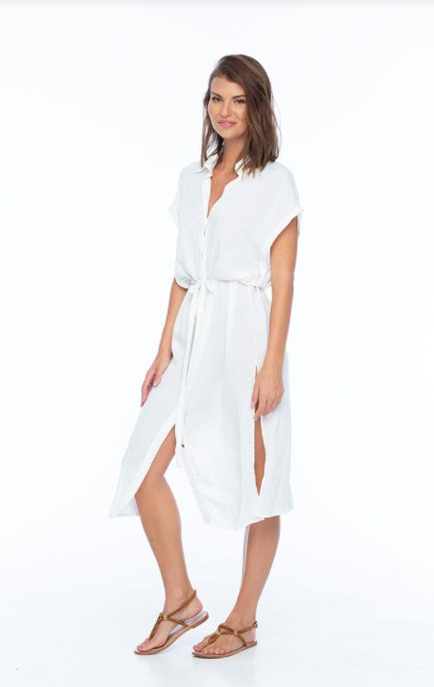 Load image into Gallery viewer, Element Button Front Shirt Dress