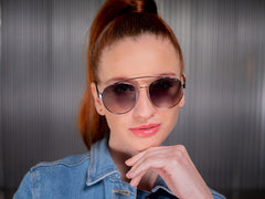 The Branded W - Round Metal Aviator Sunnies