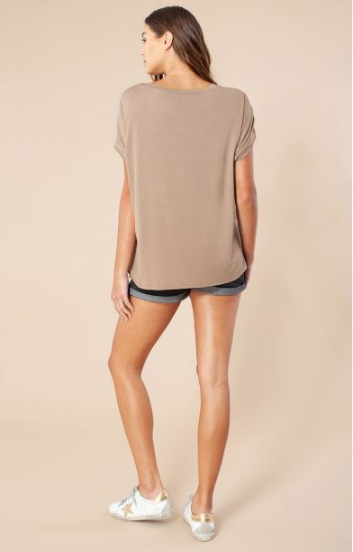Load image into Gallery viewer, Silk Front Solid Tee