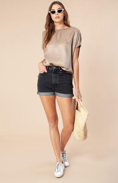 Silk Front Solid Tee