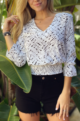 The Smocked Band Blouse