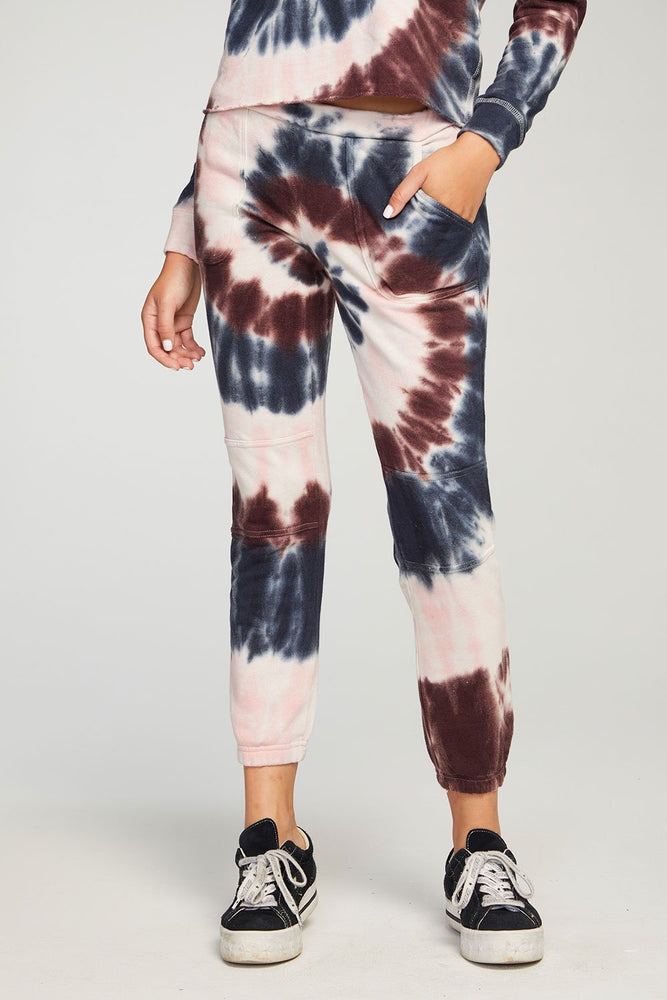 Linen French Terry Moto Jogger - Tie Dye - Front View