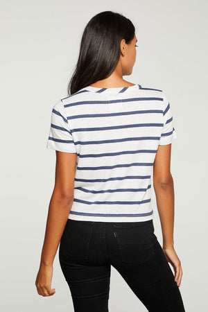 Load image into Gallery viewer, Linen Jersey Tie Front Tee - Back View