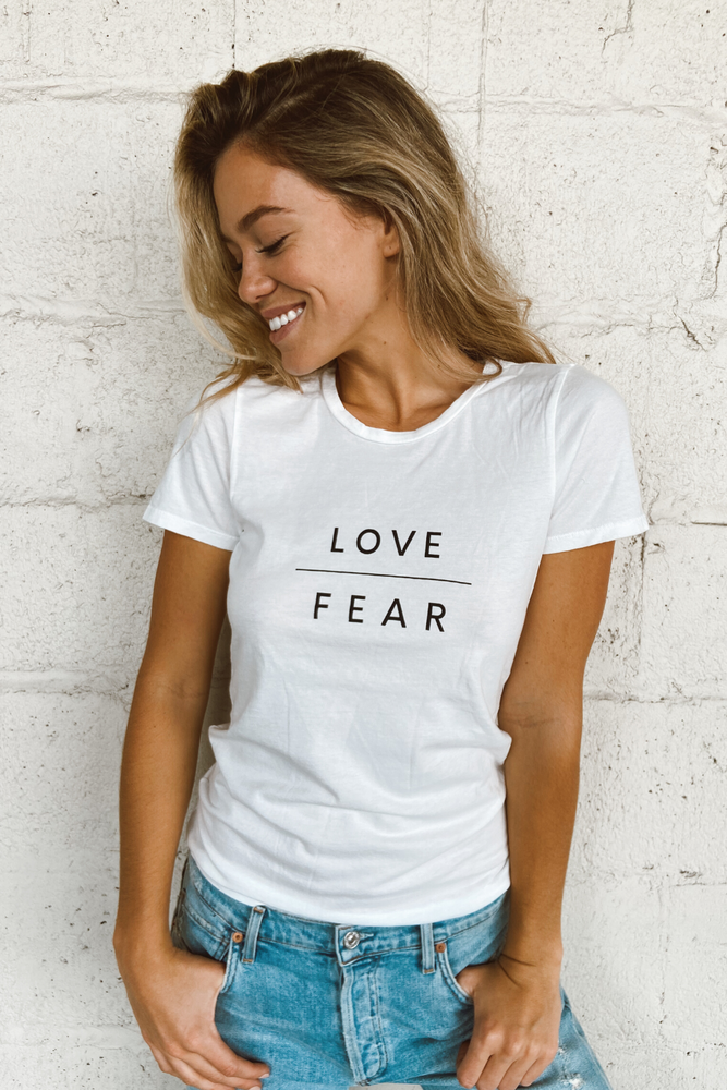 Load image into Gallery viewer, Love Over Fear Tee - Jaffi's