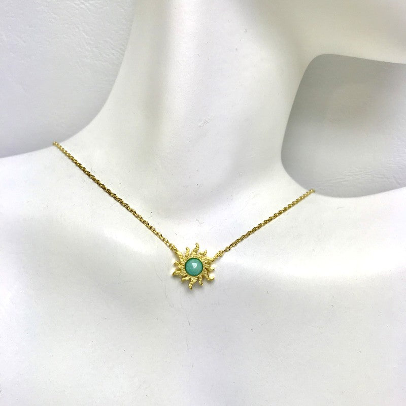 Load image into Gallery viewer, Sun Stone Necklace