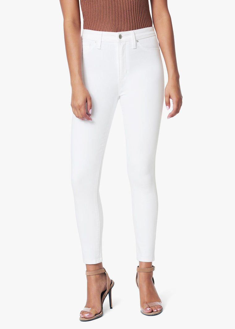 The Charlie High Rise Skinny Crop - White