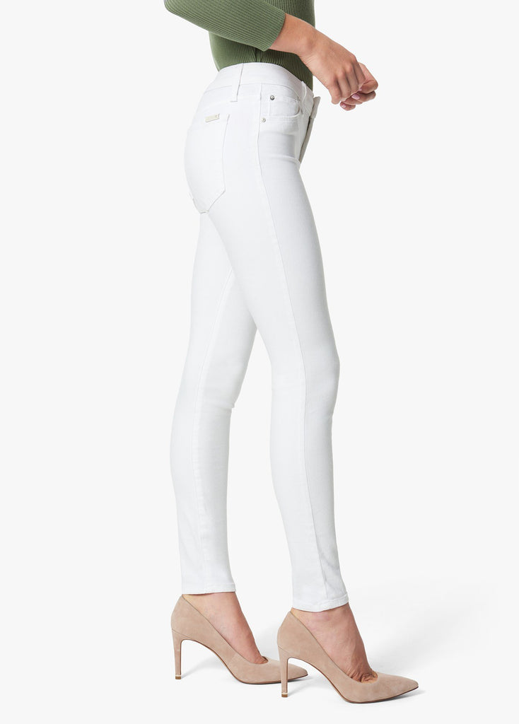 The Icon Mid-Rise Skinny Jeans - White