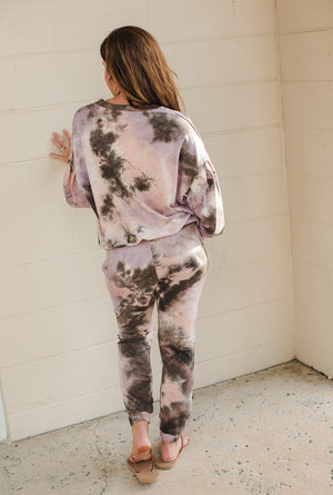 Load image into Gallery viewer, Tie Dye Pocket Jogger - Pink/Brown Tie Dye - Back View