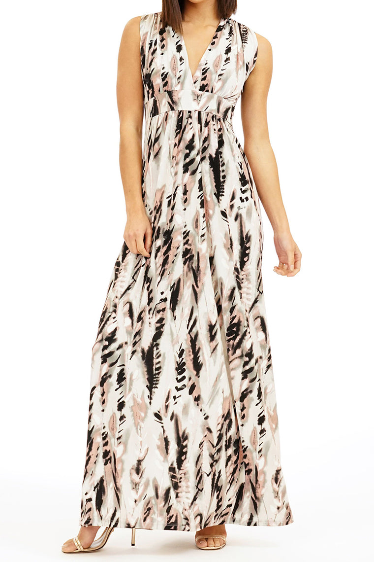 The Paola - V-Neck Maxi Dress