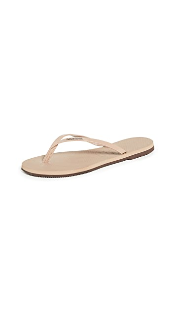 You Metallic Flip Flop - Rose Gold