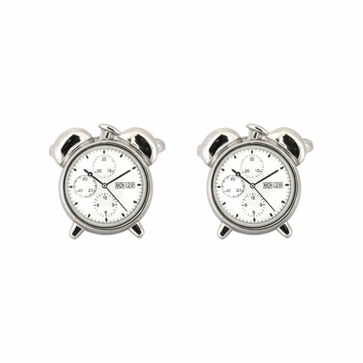 Alarm Clock Novelty Cufflinks