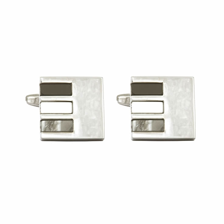 Contemporary Square Pattened Cufflinks