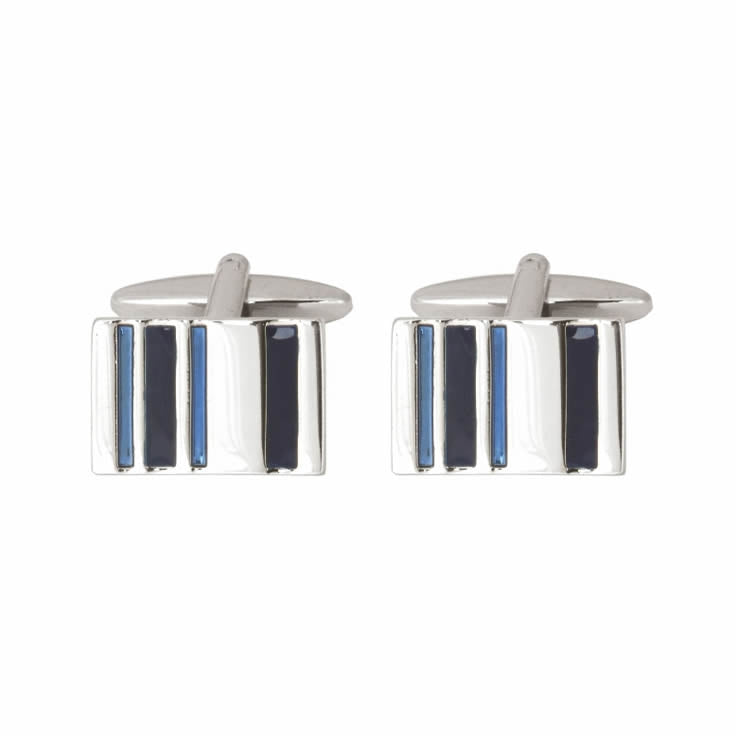 2-Tone Blue Bars Cufflinks