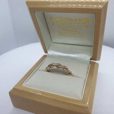 9ct Yellow Gold Twist Ring - 42-01-023