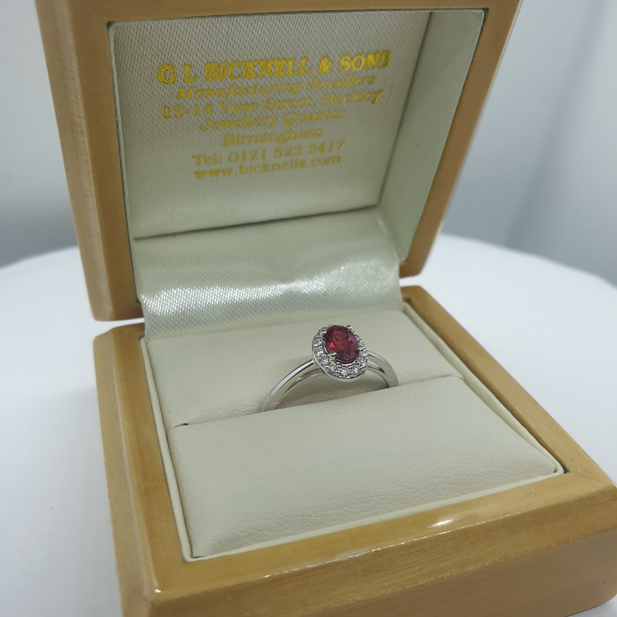 Platinum Ruby and Diamond Ring - 21-01-300