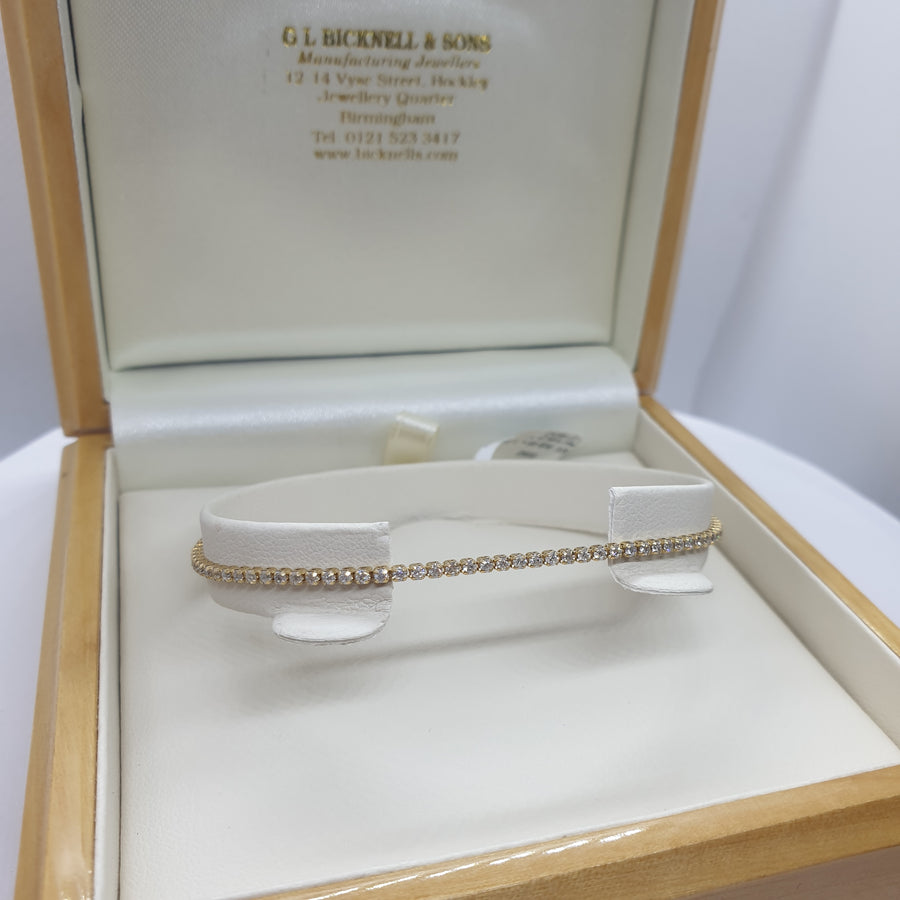 9ct Yellow Gold Tennis Bracelet - 11-01-262