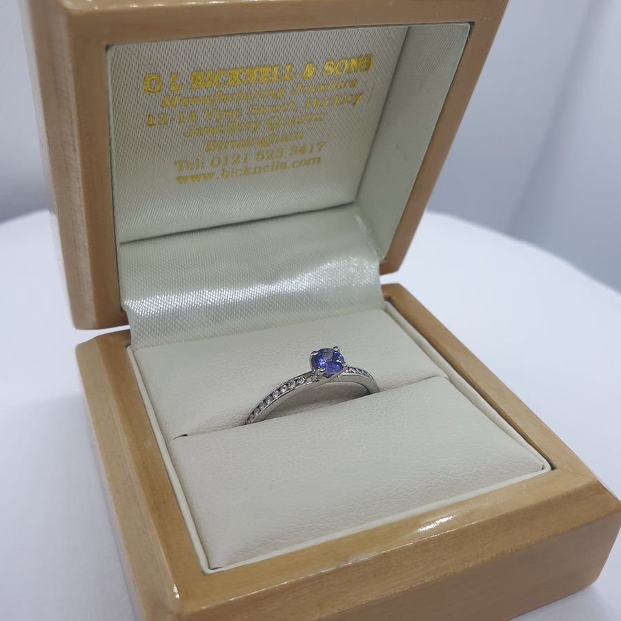 Platinum Tanzanite Ring - 24-01-102