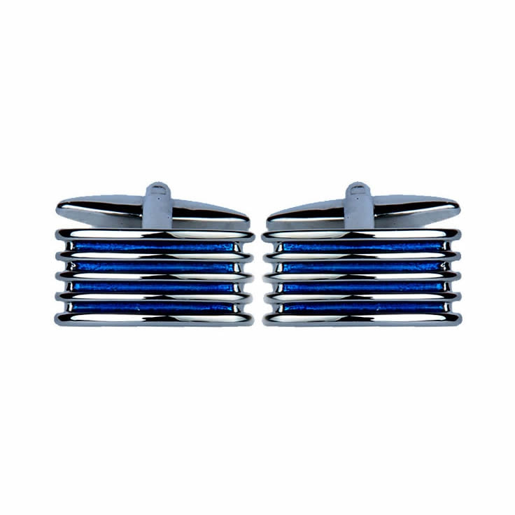 Blue Four Rib Cufflinks