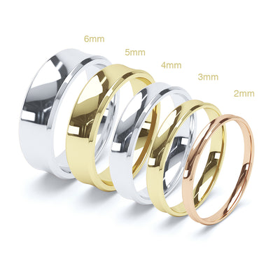 Gents Concave Wedding Ring - BKW1008