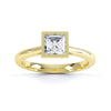 Framed Square Diamond Solitaire Ring - BK1005