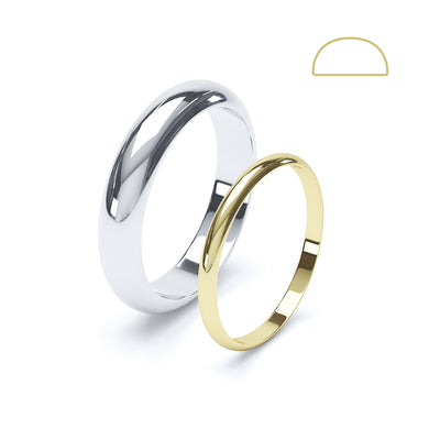 D Shaped Wedding Ring - BKW1002
