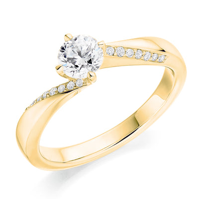 Round Diamond Twist Ring - WB20182