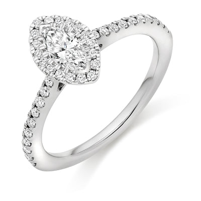 Marquise Diamond Halo Ring - WB4055