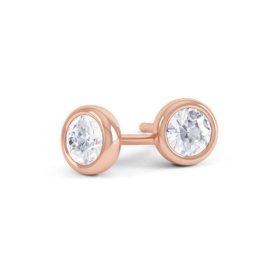 Round Solitaire Diamond Earrings - BDJ1002