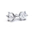 Round 6 Claw Solitaire Diamond Earrings - BDJ1006