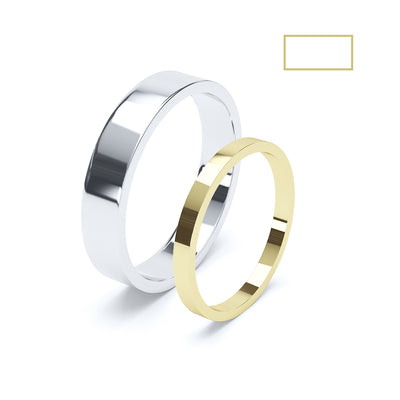 Gents Flat Wedding Ring - BKW1003