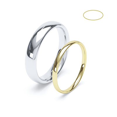 Gents Full Court Wedding Ring - BKW1005
