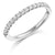 Diamond Set Half Eternity Ring - WB1023
