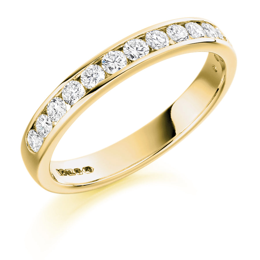 Diamond Set Half Eternity Ring - WB1310