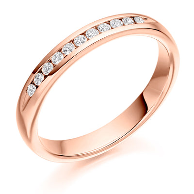 Diamond Set Half Eternity Ring - WB2265